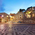 castelmola - piazza sant'antonio e castello