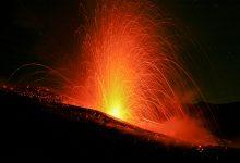 etna - eruzione etna con fontane di lava